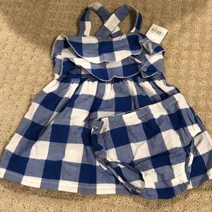 Carters Blue and White Dress